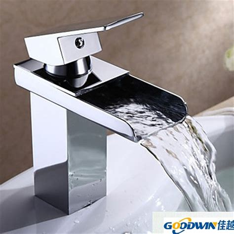 waterfall kitchen faucet kitchen faucets brass square waterfall faucet modern
