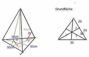 Höhe Von Pyramide Berechnen : pyramide winkelberechnung in gleichseitig dreieckiger pyramide h 35cm und a 170cm mathelounge ~ Themetempest.com Abrechnung