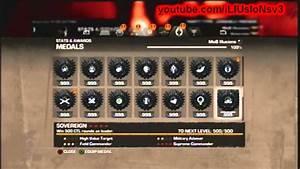 Gears OF War 3 Rank 100 Mods StatsAwardsMedals