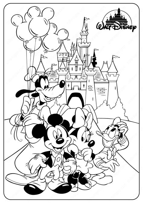 disney minnie mickey mouse coloring pages