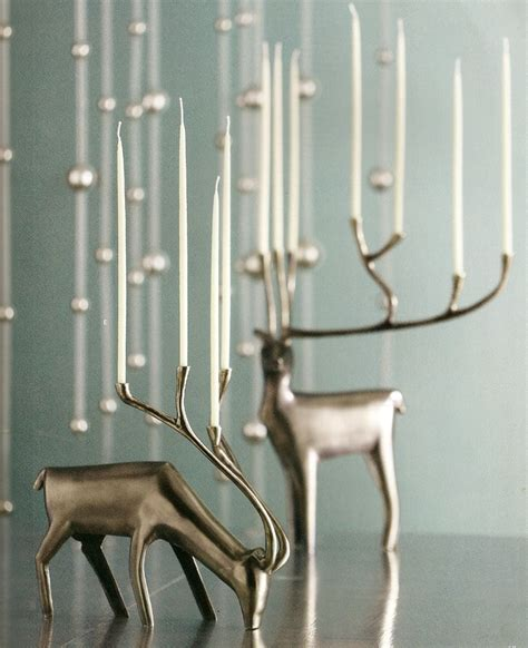 images  stag candle holders vases  pinterest