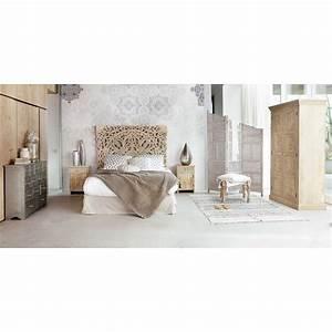 Maison Du Monde Bett : t te de lit 160 sculpt e en manguier massif en 2018 chambre pinterest lit maison du monde ~ Orissabook.com Haus und Dekorationen
