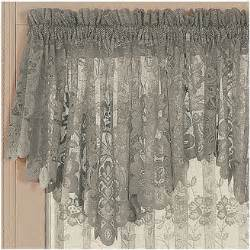 jcp home jcpenney hometm shari lace rod pocket ascot