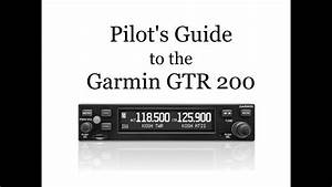 Pilot U0026 39 S Guide To The Gtr 200