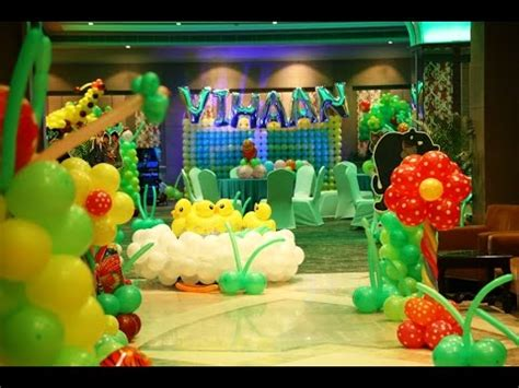 Jungle Theme Birthday Party Youtube