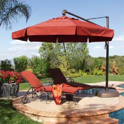 patio umbrellas on