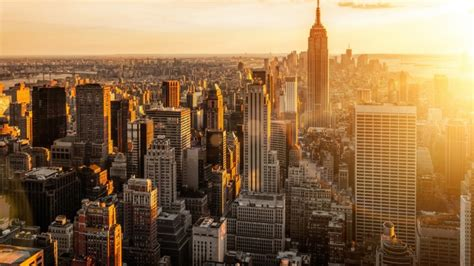 Full Hd Wallpaper Manhattan Sun Rise New York, Desktop