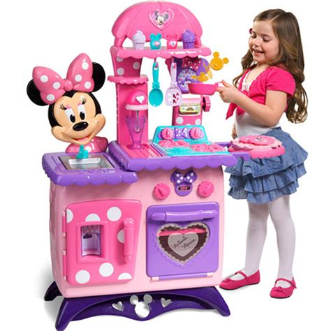 minnie mouse play kitchen minnie mouse bow tique flipping play kitchen walmart