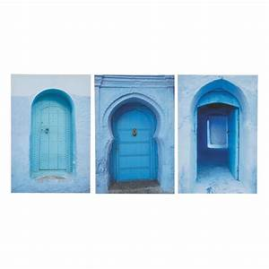 Triptyque Maison Du Monde : triptyque bleue 40 x 60 cm m dina maisons du monde ~ Teatrodelosmanantiales.com Idées de Décoration