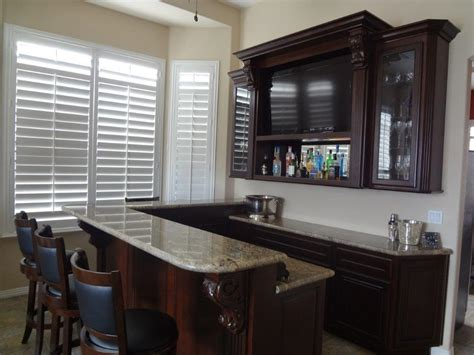 Custom Built Home Bars by Custom Built In Bar Cabinets In Las Vegas Home Platinum