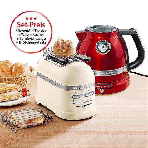 toaster und wasserkocher set kitchenaid 2 scheiben toaster und doppelwand wasserkocher mit temperaturvorwahl hagen