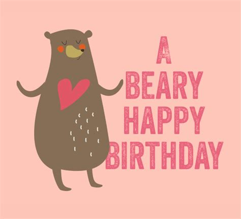 beary birthday  birthday wishes ecards greeting
