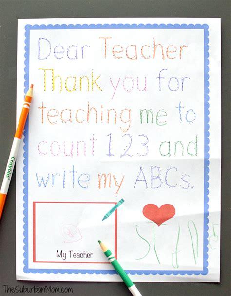 traceable preschool thank you note 856 | Preschool Teacher Appreciation