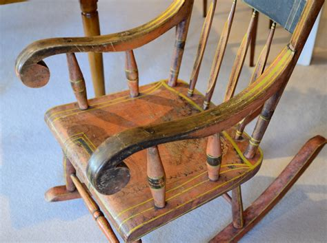 painted rocking chair raymond antiques