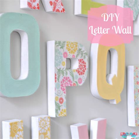 diy letter wall decor  love nerds