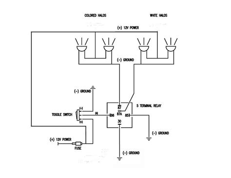 narva 5 pin relay wiring diagram 5 wire relay diagram
