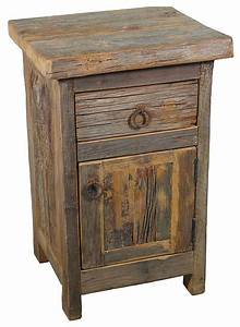 Rustic barn wood nightstand nightstands and bedside for Barnwood bedside table