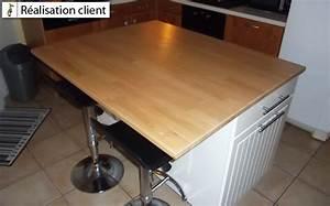 Plan De Travail Ilot : ilot central de cuisine sur mesure le blog du bois ~ Premium-room.com Idées de Décoration
