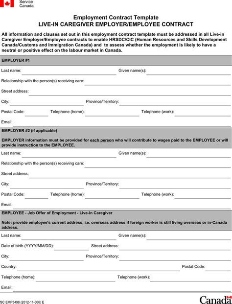 3+ Employment Contract Template Free Download