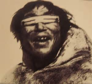 Inuits Wear Goggles Made Of Bone To Prevent Snow Blindness
