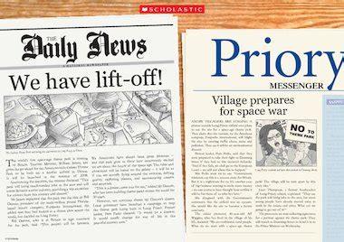 headlines newspaper poster primary ks2 teaching resource