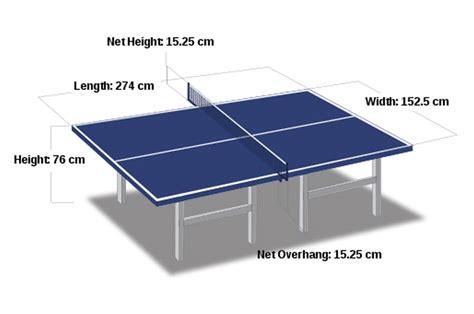ukuran lapangan tenis meja PENJAS ORKES