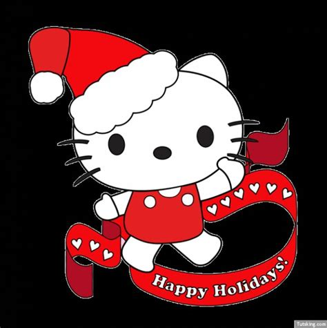 hello kitty with santa hat vector free download