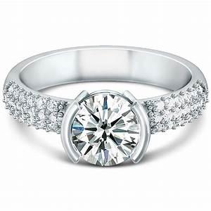 semi bezel engagement ring wedding and bridal inspiration With bezel wedding ring