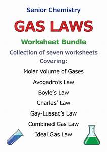 Gas Laws Discount Bundle Save 40  By Goodscienceworksheets - Teaching Resources