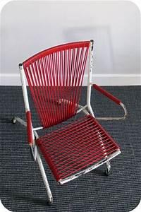 Fauteuil Fil Scoubidou : fauteuil scoubidou rouge l 39 atelier du petit parc ~ Teatrodelosmanantiales.com Idées de Décoration