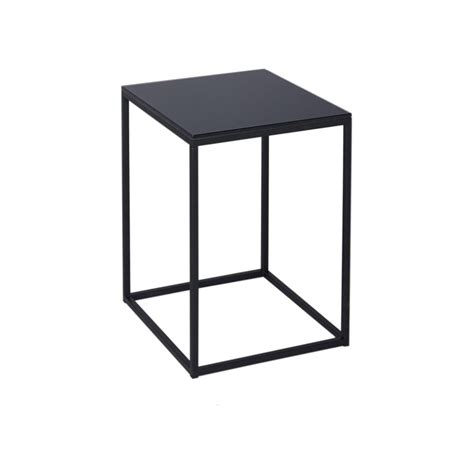 square brass side table buy black glass and black metal square side table from