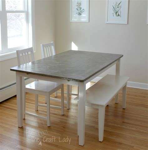 Mod Podge Kitchen Table by Diy Concrete Dining Table Top And Dining Set Makeover