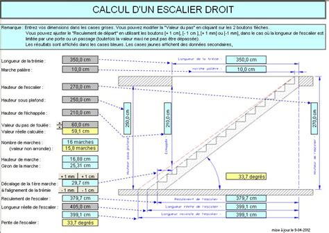 calcul d un escalier grand escalier