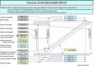 calcul d39un escalier dimensions normes et orientations With ordinary faire un plan maison 8 calculer un escalier droit