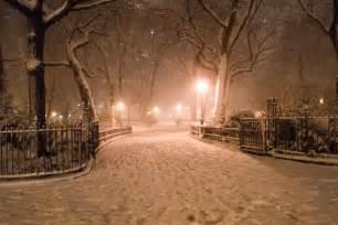New York at Night Snow