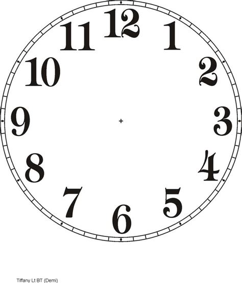clock face template bing images printable pinterest