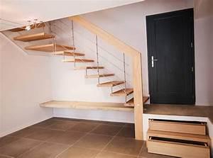 42 best escaliers industriel metal images on pinterest With peindre des escalier en bois 9 style nova escalier suspendu design laque blanc