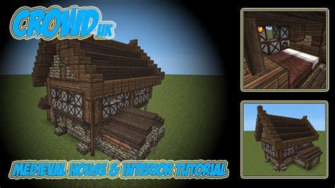 minecraft medieval house interior tutorial youtube