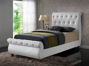 Cushioned full size bed frame with headboard homedcincom for Bed frame with cushioned headboard