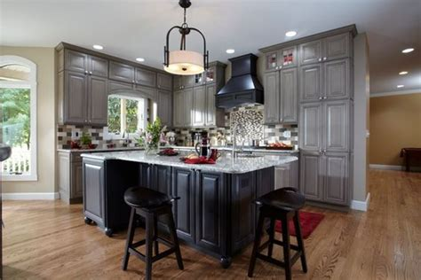 kitchen cabinet molding a beautiful maple kitchen in contrasting shades of gray 2631