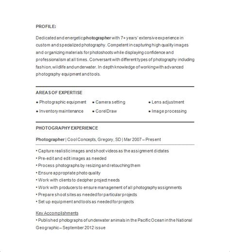 photographers resume photographer resume template 17 free samples examples