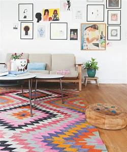 adoptez le kilim mariekke With tapis moderne avec canapé bretz pas cher
