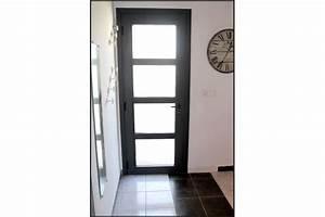 installation d39une porte d39entree alu ral 7016 montpellier With porte d entrée ral 7016