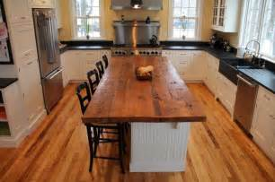 kitchen island countertops reclaimed white pine kitchen island counter transitional kitchen boston by longleaf