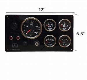 John Deere Engine Panel  Black Gauges  U2013 Ac Dc Marine Inc