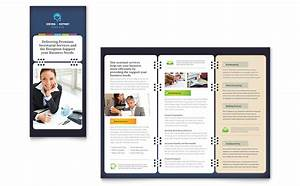 secretarial services tri fold brochure template word With microsoft office publisher templates for brochures