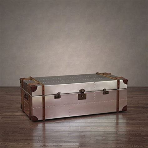 (5) denise square coffee table. Commander Aluminum Storage Trunk Coffee Table review best | BuyMoreCoffee.com