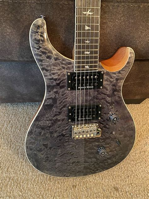 PRS SE Custom 24- Quilt Charcoal, Sweetwater Exclusive ...