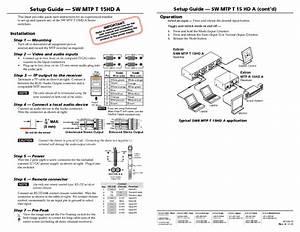 Sw Mtp T 15hd A Manuals