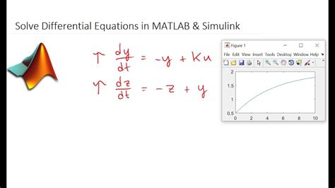 Solve Differential Equations In Matlab And Simulink
